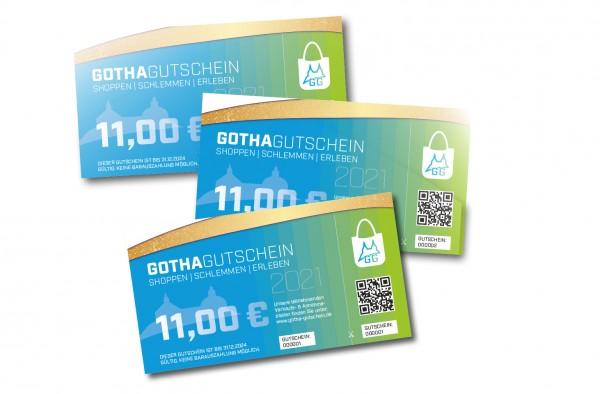 Gotha Gutschein im Wert von je 11,– €